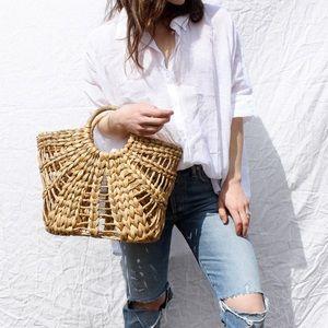 Handbags - Woven tote bag as seen on Matilda Djerf